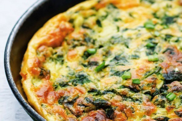 Omelet Sayur yang Lezat